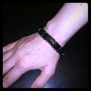 Goth Punk Unisex Black Magnet Hot Topic Bracelet!
